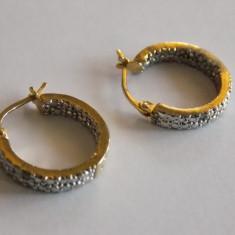 Cercei de argint auriti - 29 - Cercei argint