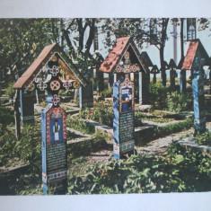 CARTE POSTALA SAPANTA CIMITIRUL VESEL ROMANIA 1981 CIRCULATA - Carte Postala Maramures dupa 1918, Fotografie