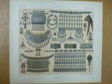 Orient bijuterii Bulgaria Turkistan Egipt cromolitografie  Paris 1876