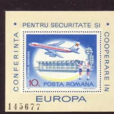 Romania 1977 - EUROPA - AVION IN ZBOR, colita DT nestampilata, D1A