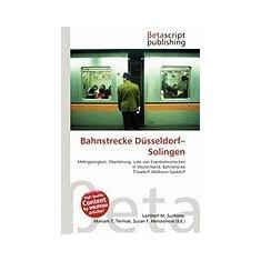 Bahnstrecke D Sseldorf-Solingen - Carte in engleza