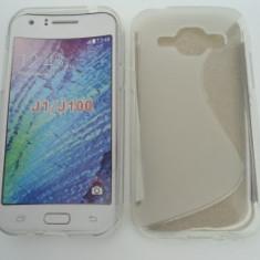 Toc silicon S-Case Samsung Galaxy J1 Transparent - Husa Telefon