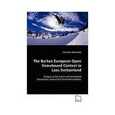 The Burton European Open Snowboard Contest in Laax Switzerland - Carte in engleza