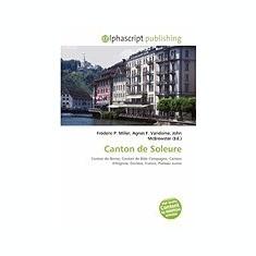 Canton de Soleure - Carte in engleza