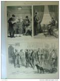Grafica 1876 The Graphic Constantinopole tren femei musulmane politie temnita
