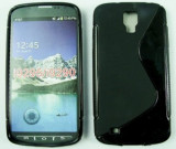 Toc silicon S-Case Samsung I9295 Galaxy S4 Active Negru