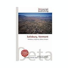 Salisbury, Vermont - Carte in engleza