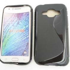 Toc silicon S-Case Samsung Galaxy J1 Negru - Husa Telefon