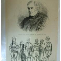 Grafica 1876 The graphic  Ambasador Constantinopole grup criminali Istambul