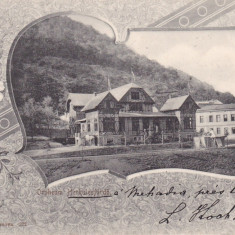 HERCULANE BAILE HERCULANE ORPHEUM CIRCULATA 1901 - Carte Postala Banat pana la 1904, Printata