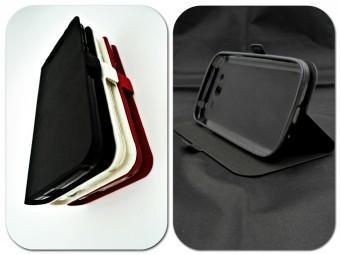 Husa FlipCover Stand Magnet Allview A5 Quad Plus Negru foto