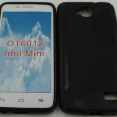 Toc silicon S-Case 6012 Orange Hiro Negru - Husa Telefon