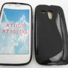 Toc silicon S-Case Motorola Moto G Negru - Husa Telefon