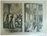 Grafica 1876 The Graphic vanatoare elefanti dans dervis Constantinopole
