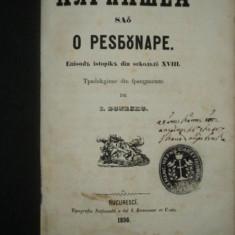 Ali Pasa sau O Razbunare, taducere de I. Bunescu, Bucuresti 1856 - Carte veche