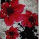 Husa silicon Jelly Case Red Flowers Nokia Lumia 520