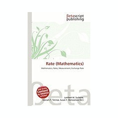 Rate (Mathematics) - Carte in engleza