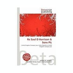 Re Saul D Harrison & Sons Plc - Carte in engleza