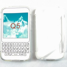 Toc silicon S-Case BlackBerry Q5 Transparent - Husa Telefon