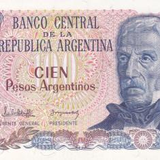 Bancnota Argentina 100 Pesos Argentinos (1983-85) - P315a UNC - bancnota america