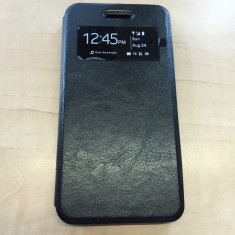 Husa ALLVIEW V2 Viper X S-VIEW Black - Husa Telefon Allview, Negru, Piele Ecologica, Cu clapeta, Toc