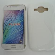 Toc silicon S-Case Samsung Galaxy J1 Alb - Husa Telefon