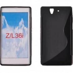 Toc silicon S-Case Sony Xperia Z C6603 Negru - Husa Telefon