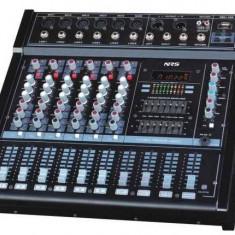 MIXER PROFESIONAL ACTIV/STATIE INCORPORATA, MP3 USB, 6 CANALE, EFECTE, 600 WATT.NOU - Mixer audio