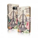 Toc FlipCover Fancy Sony Xperia M4 Aqua PARIS, Plastic, Husa