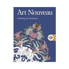Art Nouveau: Coloring for Everyone - Carte in engleza