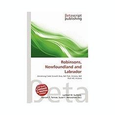 Robinsons, Newfoundland and Labrador - Carte in engleza