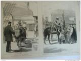 Grafica 29 aprilie  1876 The Graphic print Wales Malta elefant ofiter naval