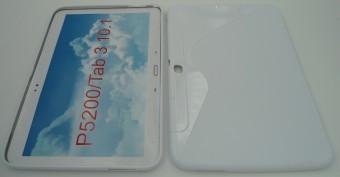 Toc silicon S-Case Samsung Galaxy Tab 3 10.1 P5200 Alb foto