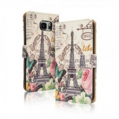 Toc FlipCover Fancy Apple iPhone 5 / 5s PARIS - Husa Telefon Apple, iPhone 5/5S/SE
