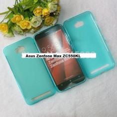HUSA ASUS Zenfone Max ZC550KL silicon subtire ALBASTRA 2016 - Husa Telefon Asus, Albastru
