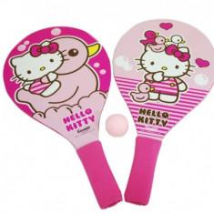 Set 2 Palete Pentru Plaja Saica Hello Kitty Din Lemn Cu Minge Inclusa Pentru Copii - Jucarie nisip