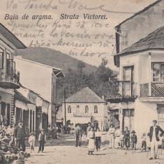 OLTENIA, BAIA DE ARAMA, STRADA VICTORIEI, CIRCULATA MAI''910 - Carte Postala Oltenia 1904-1918, Printata