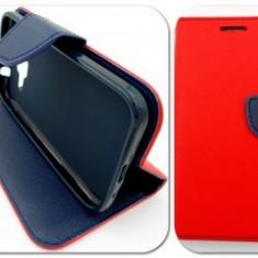 Toc FlipCover Fancy Apple iPhone 5 / 5S RED-NAVY - Husa Telefon Apple, iPhone 5/5S/SE