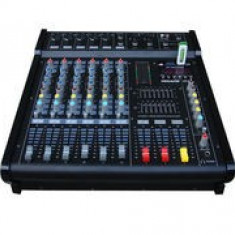 MIXER AUDIO PROFESIONAL AMPLIFICAT/PUTERE 600 WATT, 6 CANALE, MP3 PLAYER, EFECTE.
