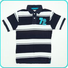 Tricou tip polo, din bumbac piquet de calitate, C&A _ baieti | 9 - 10 ani | 140, Marime: Alta, Culoare: Bleumarin