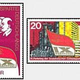 DDR 1976 - 9th Congres de partid, serie neuzata