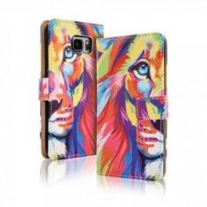 Toc FlipCover Fancy Apple iPhone 5 / 5s LION - Husa Telefon Apple, iPhone 5/5S/SE
