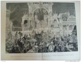 Grafica  1876 The Graphic India Calcutta print Wales lumini palat