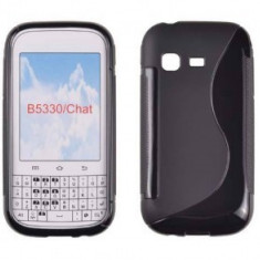 Toc silicon S-Case Samsung Galaxy Chat B5330 Negru - Husa Telefon