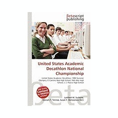 United States Academic Decathlon National Championship - Carte in engleza