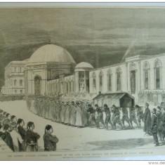 Grafica The Graphic Constantinopole inmormantare sultan mausoleu Mahomed - Carte veche