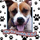 Riley the Lovable Pit Bull - Carte in engleza
