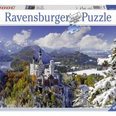 Puzzle Ravensburger Castelul Neuschwanstein Iarna, 3000 Piese