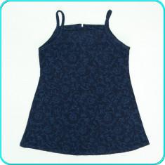 Sarafan grosut, stofa din lana pura virgina in amestec _ fetite | 3-4 ani | 104, Marime: Alta, Culoare: Bleumarin