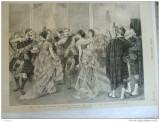 Grafica 29 aprilie  1876  The Graphic Malta bal dans petrecere print Wales
